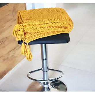štrikovaný pléd - žltá farba