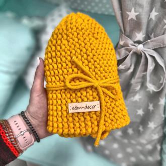 Poťah na taburetku - žltá farba