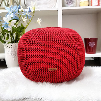 Puf - červená farba