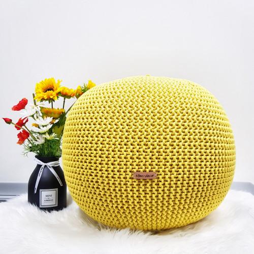 Puf stredný - jasná žltá farba