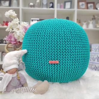 Puf - smaragdová farba