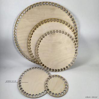 Ideal okrúhle drevené dno na háčkovaný košík 15 cm