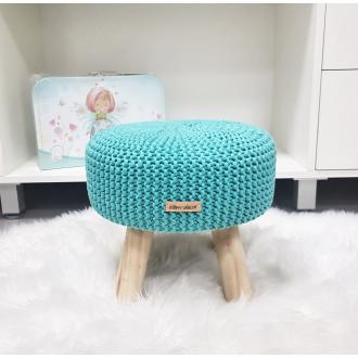 Taburetka - stolček malý - mentolová farba