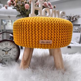 Taburetka - stolček malý - žltá farba