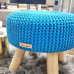 Taburetka - stolček malý - tyrkysová farba