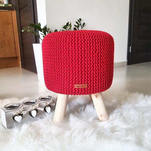 Taburetka veľká - červená farba