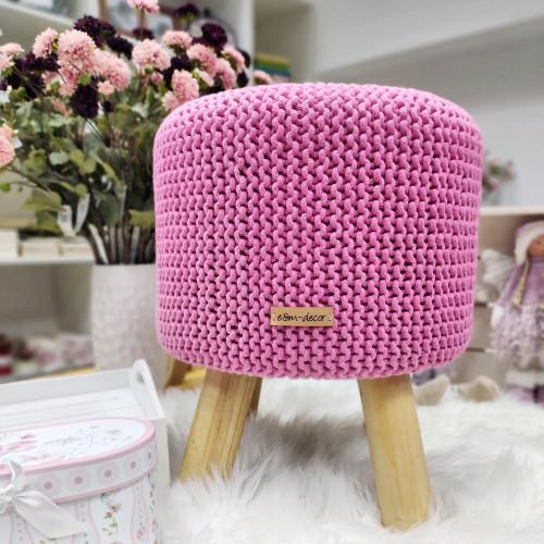 Taburetka veľká - ružová farba