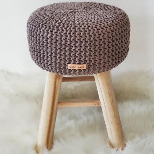 Taburetka stolček - mocca
