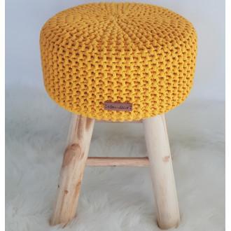 Taburetka stolček - žltá