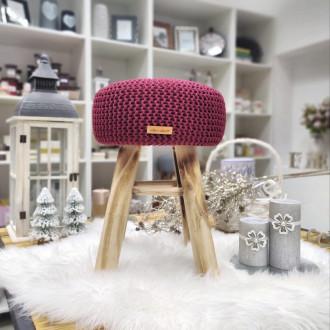 Taburetka stolček - bordová farba