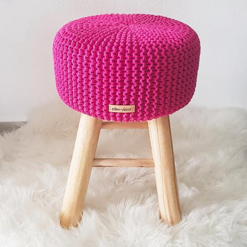 Taburetka stolček - cyklaménová