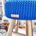 Taburetka stolček - kráľovská modrá