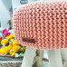Taburetka stolček - lososová farba