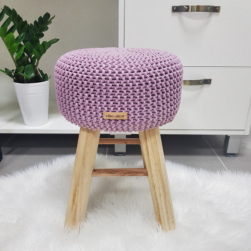 Taburetka stolček - staroružová
