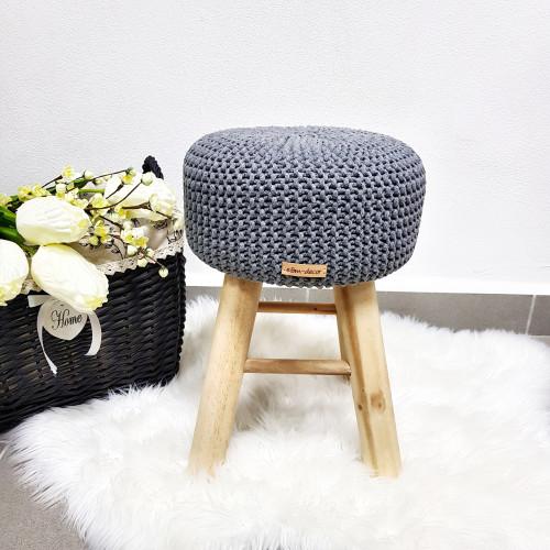 Taburetka stolček - tmavo šedá